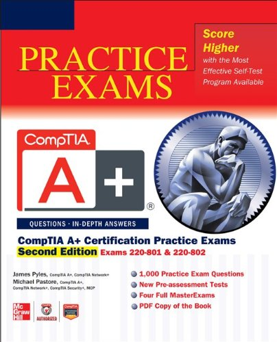 CompTIA A+ Certification Exams 220-801 and 220-802 2nd 2013 edition cover