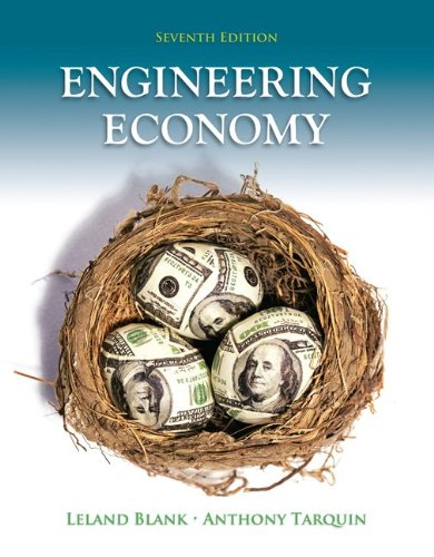 Engineering Economy  7th 2012 9780073376301 Front Cover