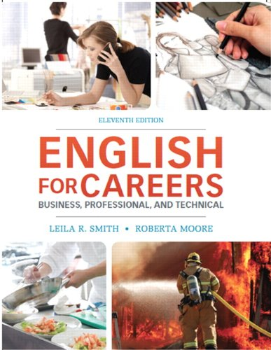 English for Careers Business, Professional and Technical 11th 2014 9780132619301 Front Cover