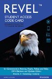 Government in America Revel Access Card: 2014 Elections and Updates Edition  2015 edition cover
