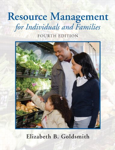 Resource Management for Individuals and Families  4th 2010 edition cover