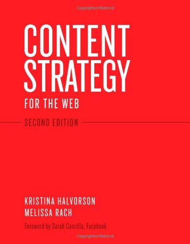 Content Strategy for the Web  2nd 2012 (Revised) edition cover