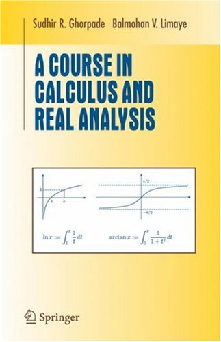 Course in Calculus and Real Analysis   2006 edition cover