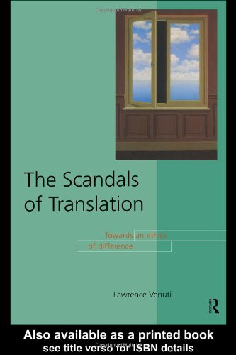 Scandals of Translation Towards an Ethics of Difference  1998 edition cover