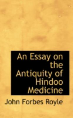 An Essay on the Antiquity of Hindoo Medicine:   2008 edition cover