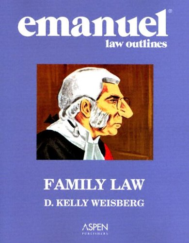Family Law Aspen Roadmap Law Course Outline  2004 (Student Manual, Study Guide, etc.) edition cover