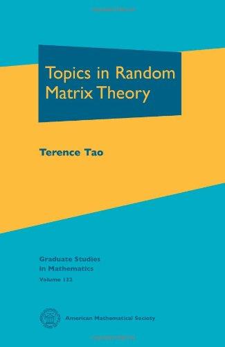 Topics in Random Matrix Theory   2012 edition cover