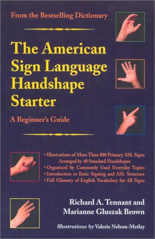 American Sign Language Handshape Starter A Beginner's Guide  2002 edition cover