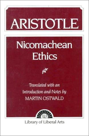 Nicomachean Ethics Aristotle  1962 edition cover