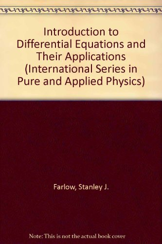 Introduction to Differential Equations and Their Applications   1994 edition cover
