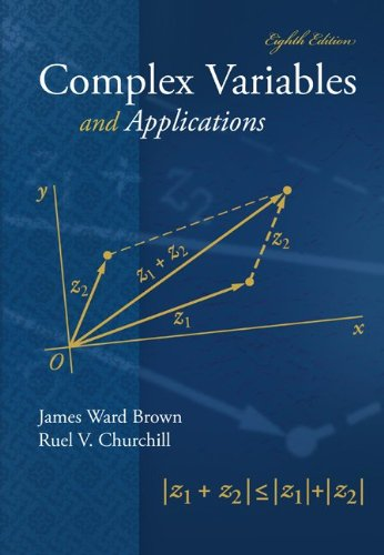 Student's Solutions Manual to Accompany Complex Variables and Applications  8th 2009 9780073337302 Front Cover