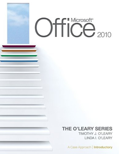 Microsoft� Office 2010 A Case Approach, Introductory  2011 edition cover