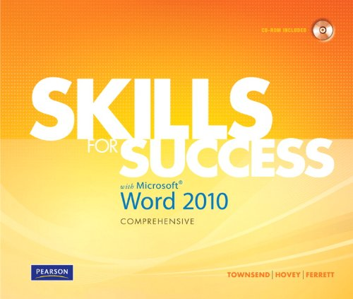 Skills for Success with Microsoft Word 2010   2011 9780135088302 Front Cover