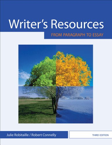 Writer's Resources From Paragraph to Essay 3rd 2013 edition cover