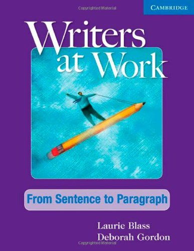 Writers at Work: from Sentence to Paragraph Student's Book   2010 edition cover