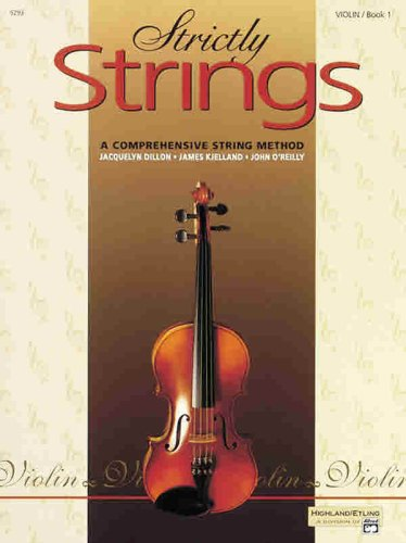 Strictly Strings, Bk 1 Violin  1992 edition cover