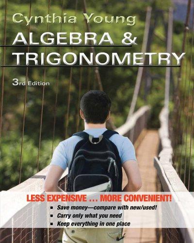 Algebra and Trigonometry  3rd 2013 edition cover