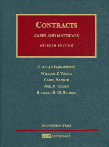 Cases and Materials on Contracts  7th 2008 (Revised) edition cover