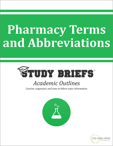 Pharmacy Terms and Abbreviations cover