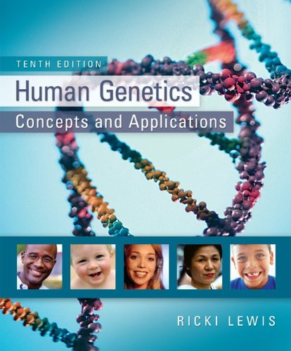 Human Genetics  10th 2012 9780073525303 Front Cover