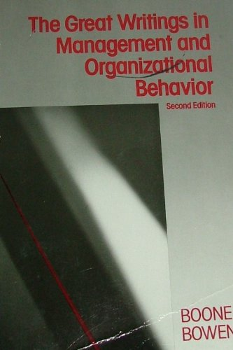 Great Writings in Management and Organizational Behavior 2nd 1987 (Revised) 9780075550303 Front Cover