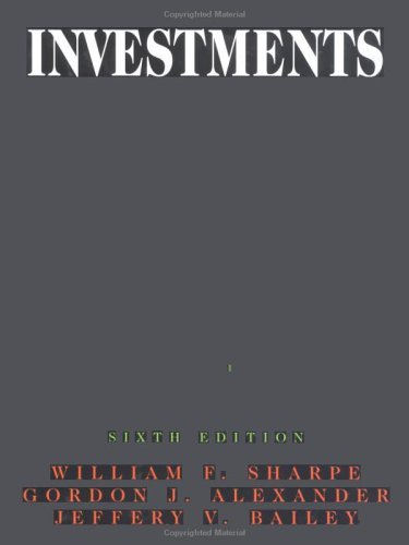 Investments 6th 1999 (Revised) edition cover