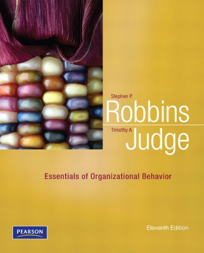 Essentials of Organizational Behavior  11th 2012 (Revised) 9780132545303 Front Cover