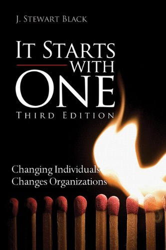 It Starts with One Changing Individuals Changes Organizations 3rd 2014 edition cover