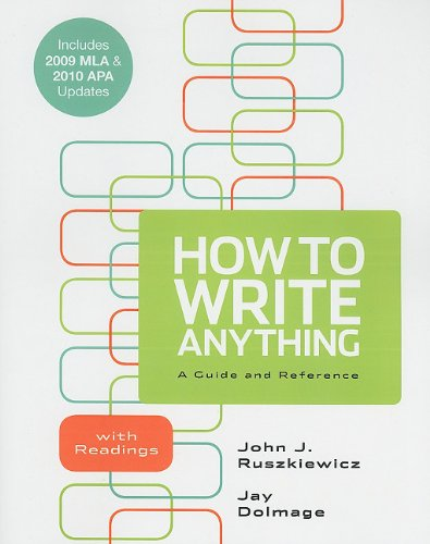 How to Write Anything A Guide and Reference Revised  edition cover