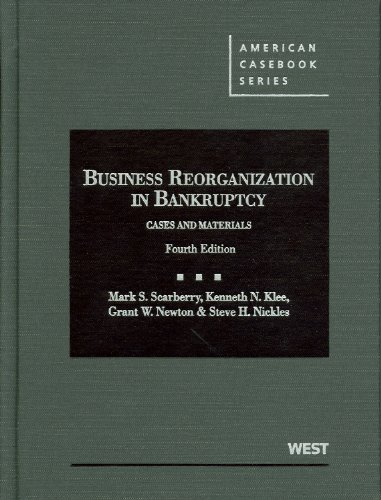 Business Reorganization in Bankruptcy  4th 2012 (Revised) edition cover