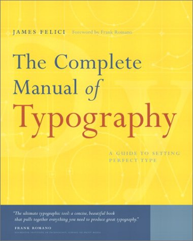 Complete Manual of Typography   2003 edition cover