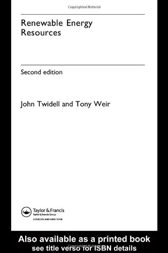 Renewable Energy Resources  2nd 2005 (Revised) edition cover