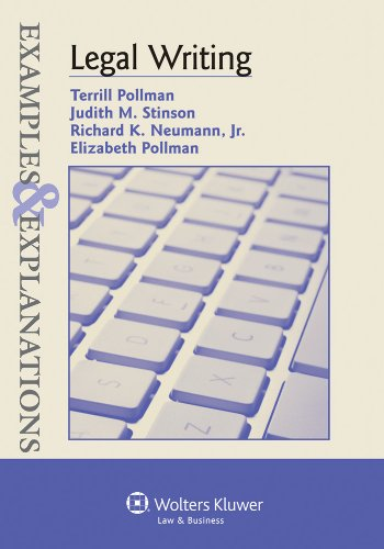 Legal Writing Examples and Explanations  2011 (Student Manual, Study Guide, etc.) edition cover