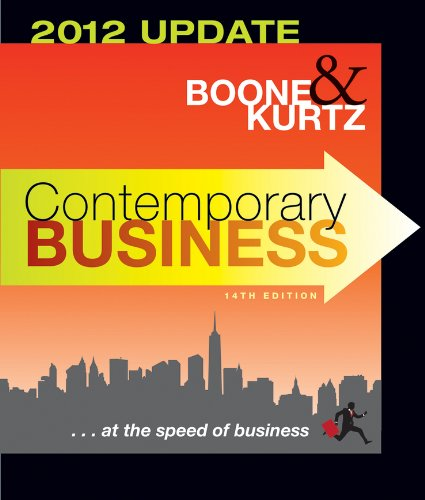 Contemporary Business 2012  14th 2012 (Revised) 9781118010303 Front Cover