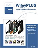 Operations and Supply Chain Management, 9e WileyPLUS Loose-Leaf Print Companion  9th 2017 9781119266303 Front Cover