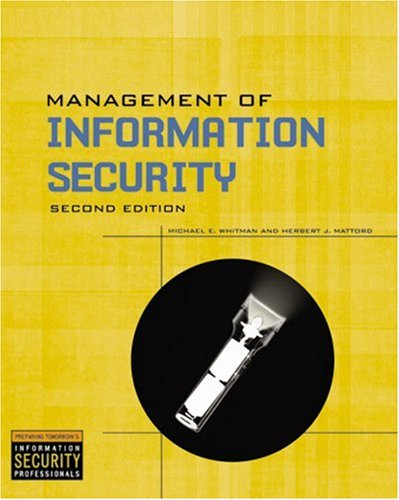 Management of Information Security  2nd 2008 (Revised) 9781423901303 Front Cover