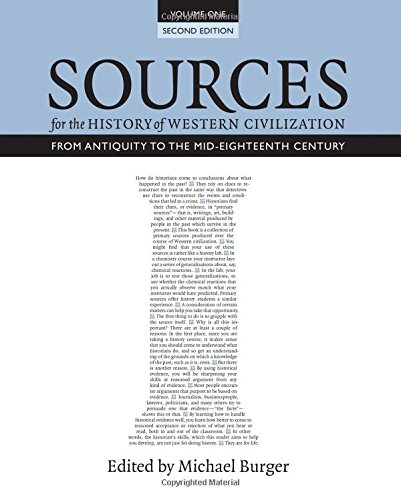 Sources for the History of Western Civilization From Antiquity to the Mid-Eighteenth Century 2nd 2015 (Revised) edition cover