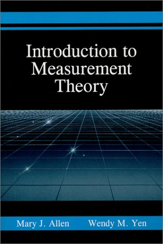 Introduction to Measurement Theory   1979 edition cover
