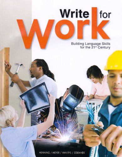 WRITE FOR WORK:BLDG.LANGUAGE S N/A 9781932436303 Front Cover