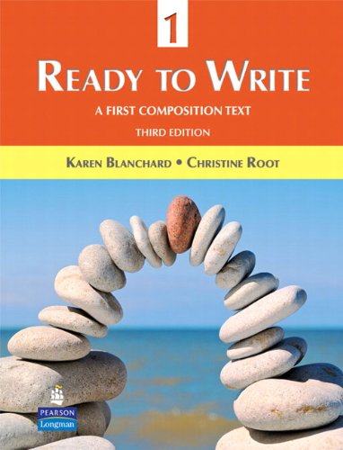 Ready to Write 1 A First Composition Text 3rd 2010 edition cover