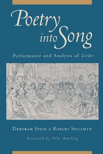 Poetry into Song Performance and Analysis of Lieder  2010 9780199754304 Front Cover