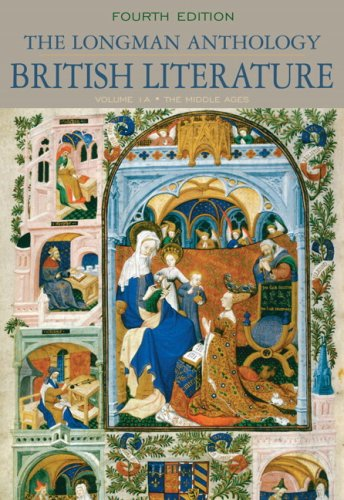 Longman Anthology of British Literature The Middle Ages 4th 2010 edition cover