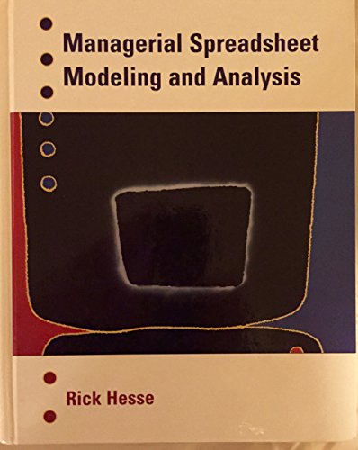 Managerial Spreadsheet Modeling and Analysis  1997 9780256215304 Front Cover