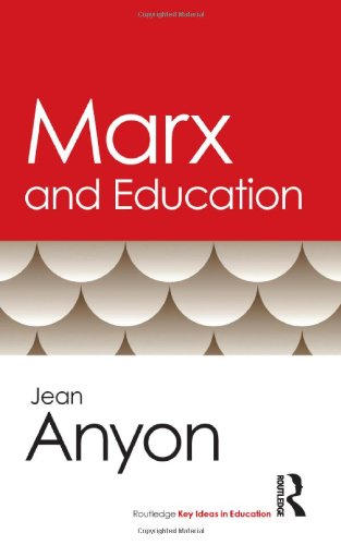 Marx and Education   2011 9780415803304 Front Cover