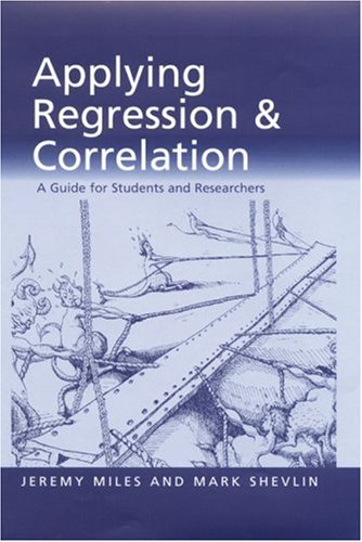 Applying Regression and Correlation A Guide for Students and Researchers  2001 edition cover