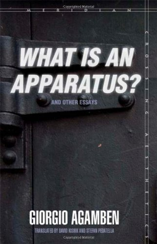 What Is an Apparatus? and Other Essays   2009 edition cover