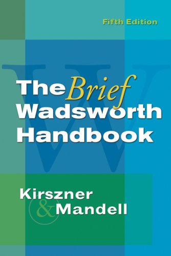 Brief Wadsworth Handbook  5th 2007 (Revised) 9781413020304 Front Cover