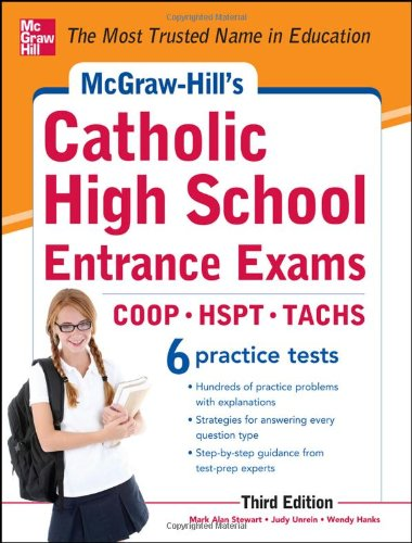 McGraw-Hill's Catholic High School Entrance Exams  3rd 2012 9780071778305 Front Cover