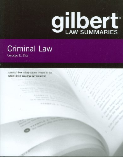 Gilbert Law Summaries on Criminal Law, 18th  18th 2008 (Revised) edition cover