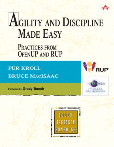 Agility and Discipline Made Easy Practices from OpenUP and RUP  2006 edition cover
